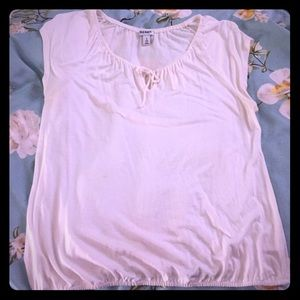 Old Navy drapey off-white tee shirt blouse
